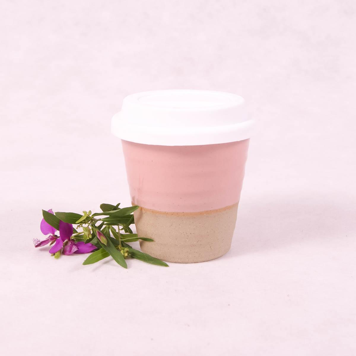 Winter Pastels Ceramic Carousel Cup Small - Peach - Travel Cup - Throw Some Seeds - Australian gardening gifts and eco products online!