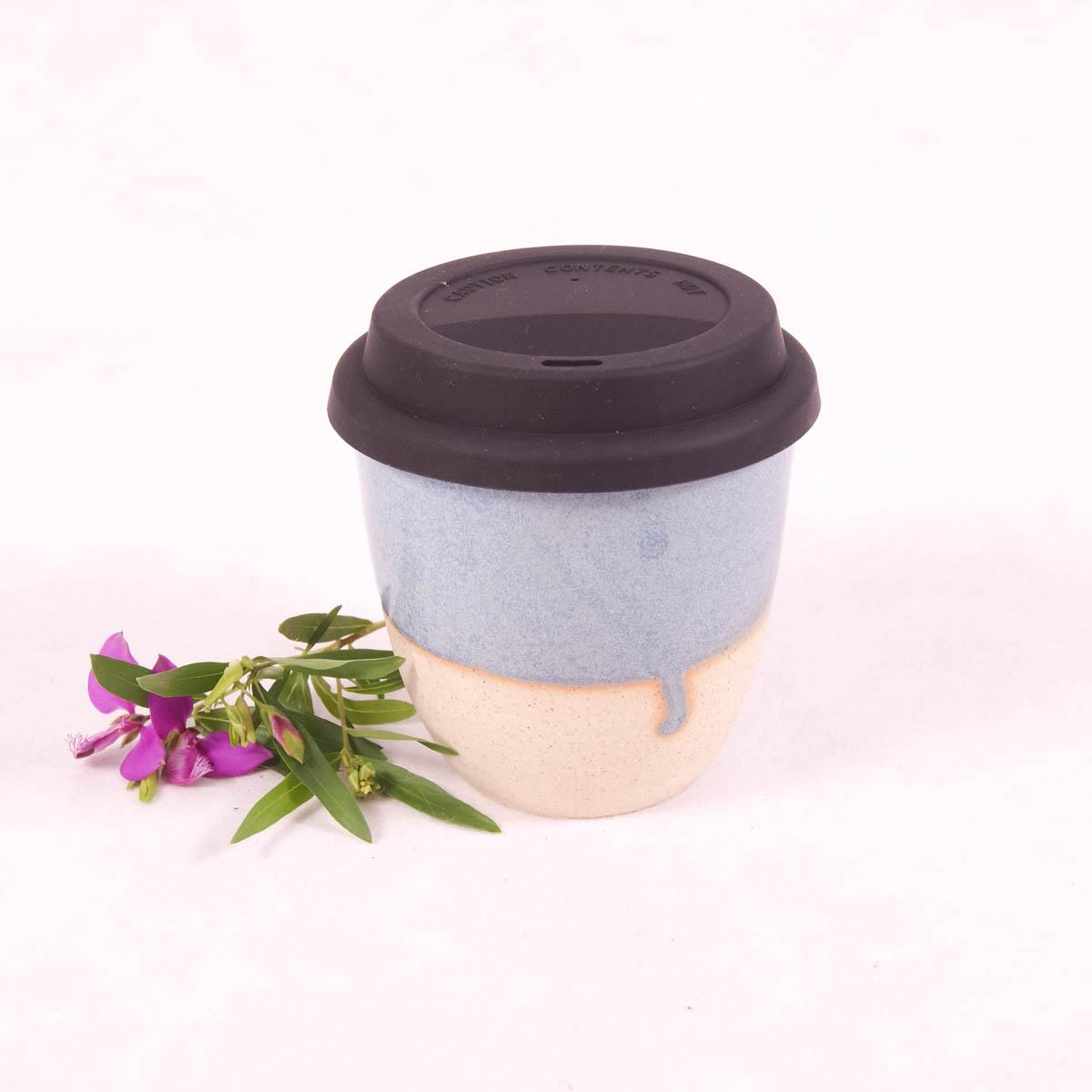 Ceramic Travel Cup Small - Ocean Blue - Travel Cup - Throw Some Seeds - Australian gardening gifts and eco products online!