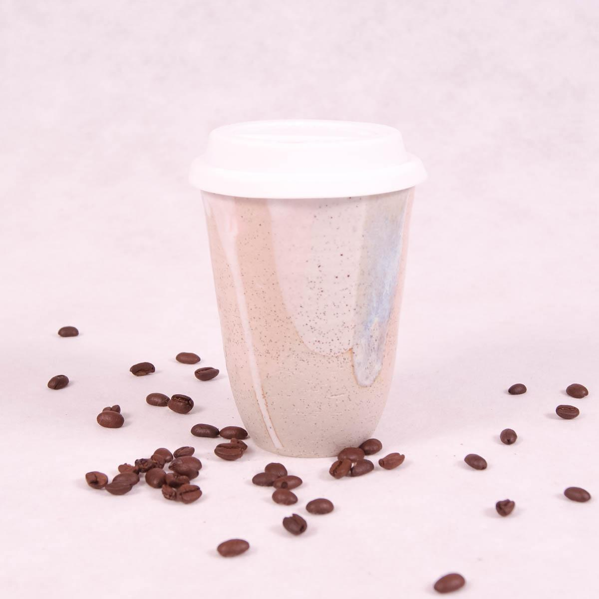Ceramic Travel Cup Large - Gelato - Travel Cup - Throw Some Seeds - Australian gardening gifts and eco products online!