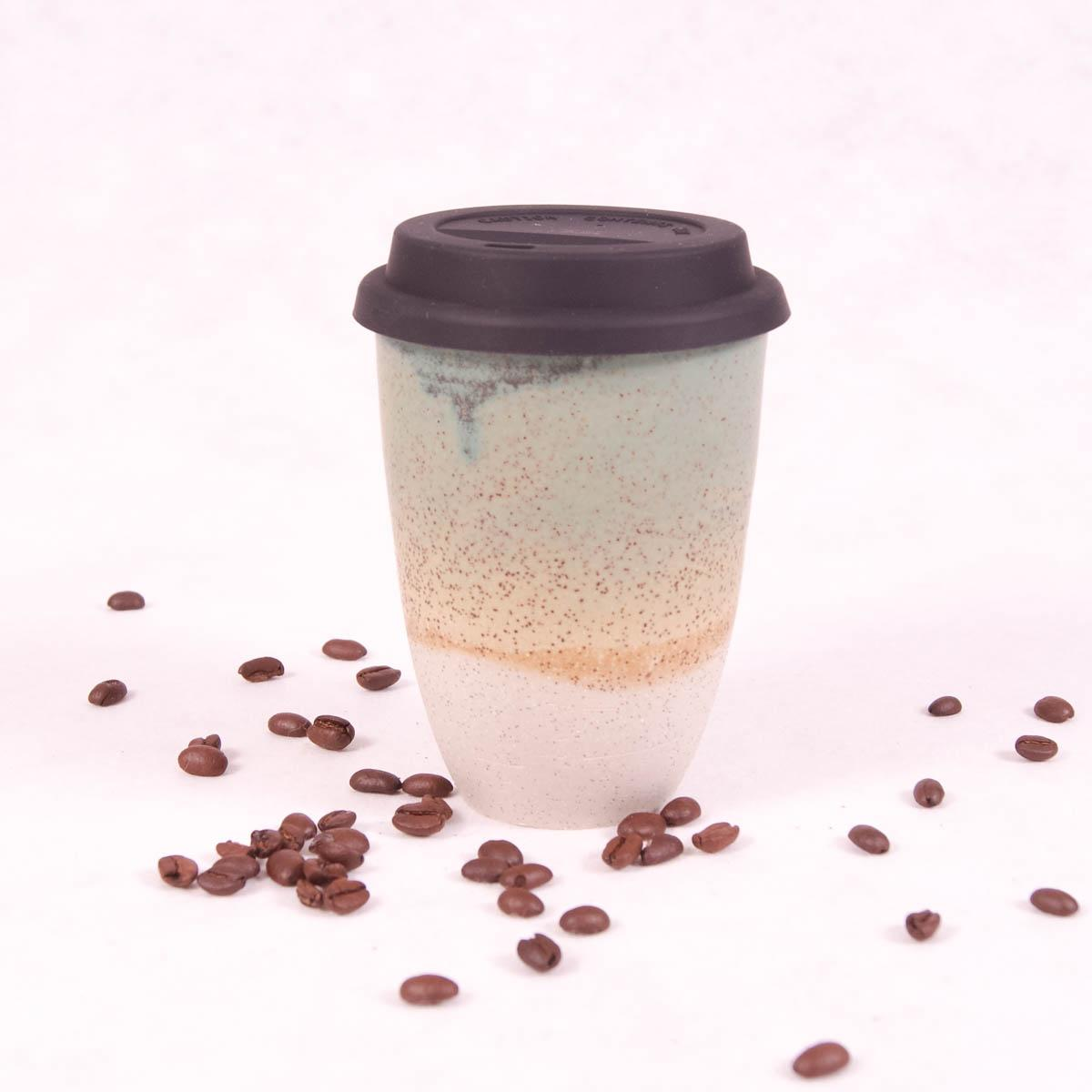 Ceramic Travel Cup Large - Jungle Green - Travel Cup - Throw Some Seeds - Australian gardening gifts and eco products online!