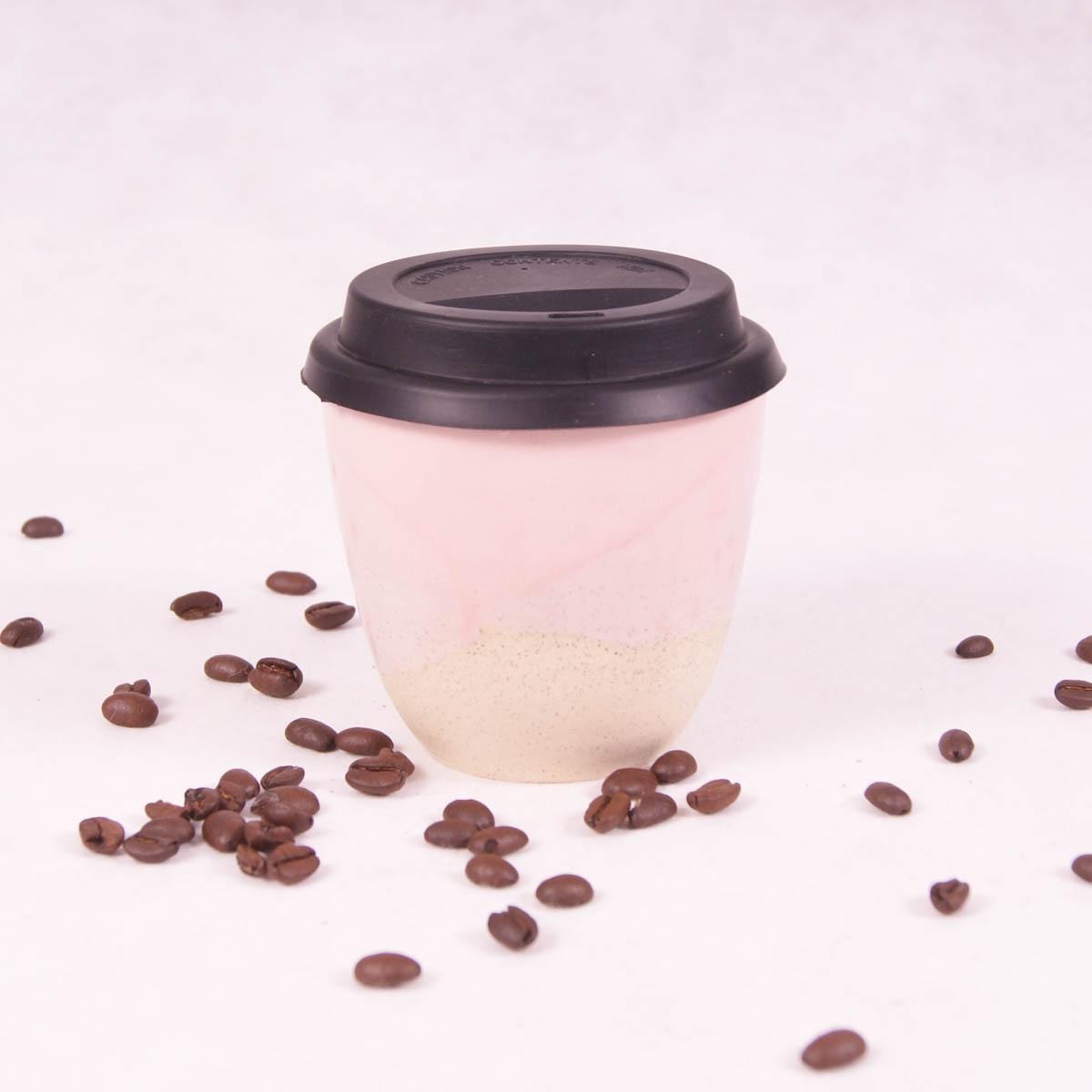 Ceramic Travel Cup Small - Fairy Floss Pink - Travel Cup - Throw Some Seeds - Australian gardening gifts and eco products online!