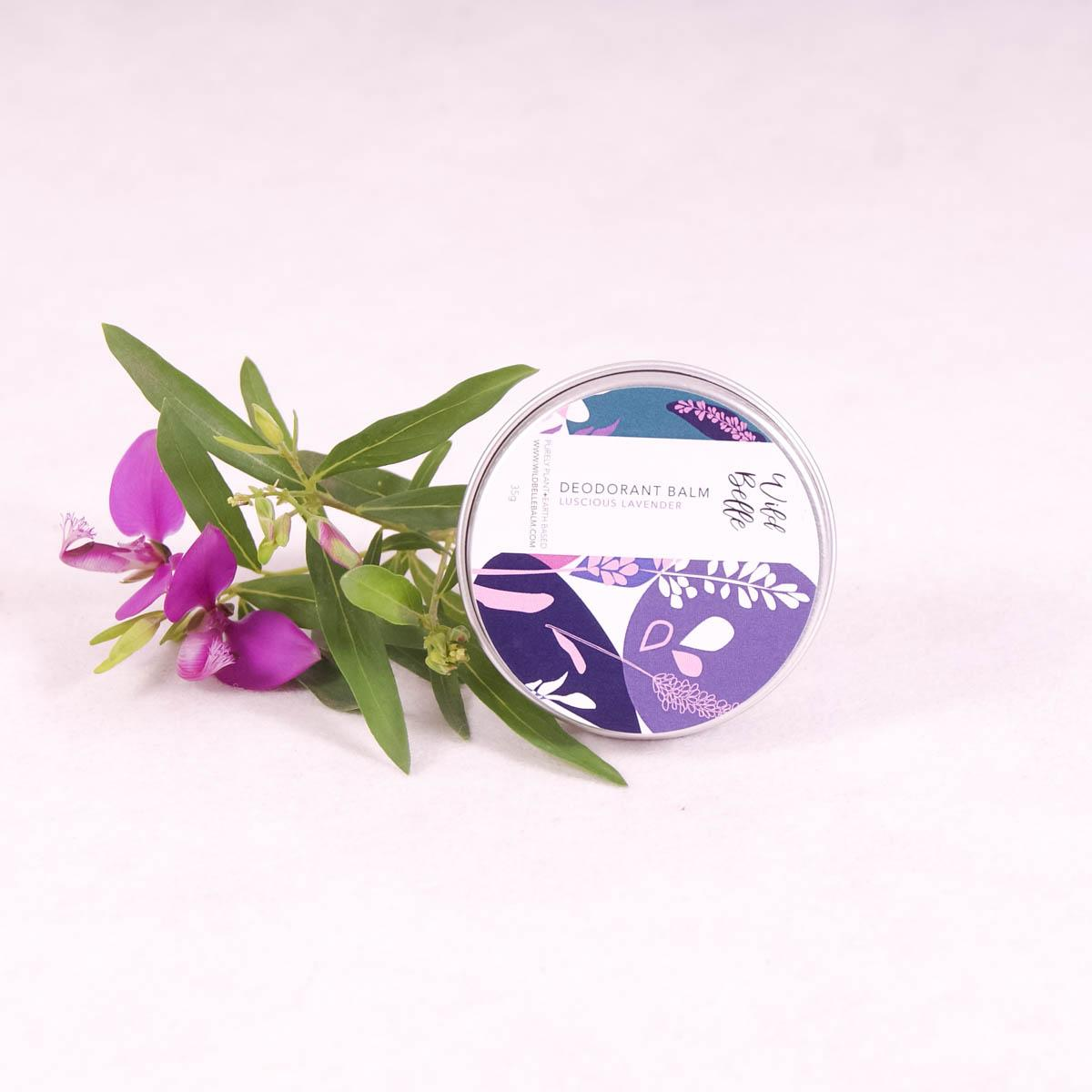 Luscious Lavender Natural Deodorant Balm - 35gm - Deodorant - Throw Some Seeds - Australian gardening gifts and eco products online!