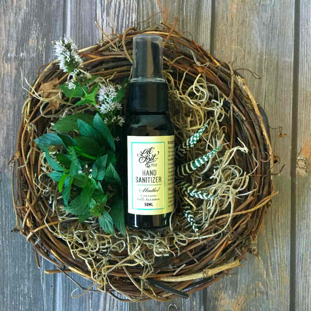 Menthol Hand Sanitising Spray - 50ml - Hand Sanitiser - Throw Some Seeds - Australian gardening gifts and eco products online!