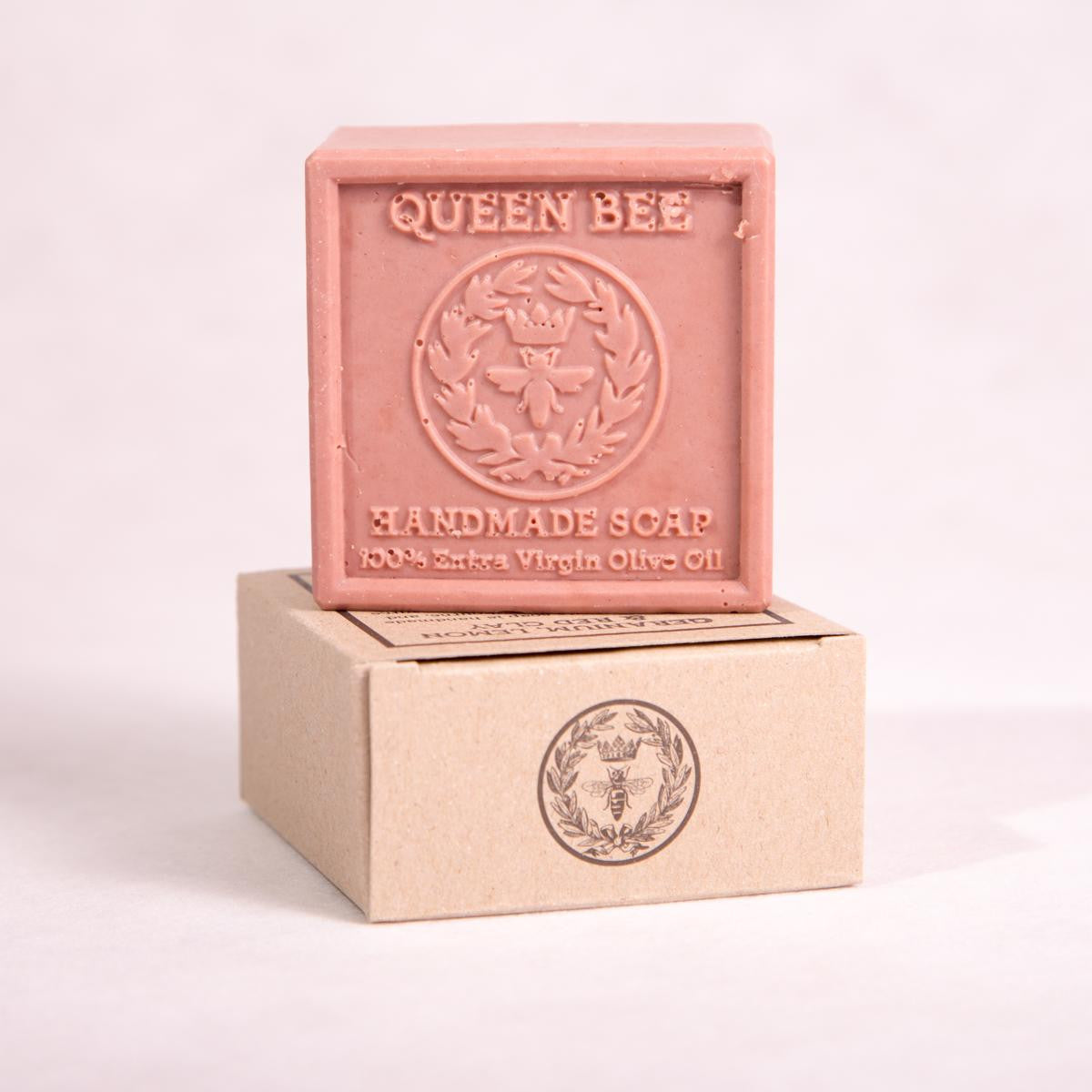 Rose Geranium, Lemon, & Red Clay Bar Soap - 135g - Bar Soap - Throw Some Seeds