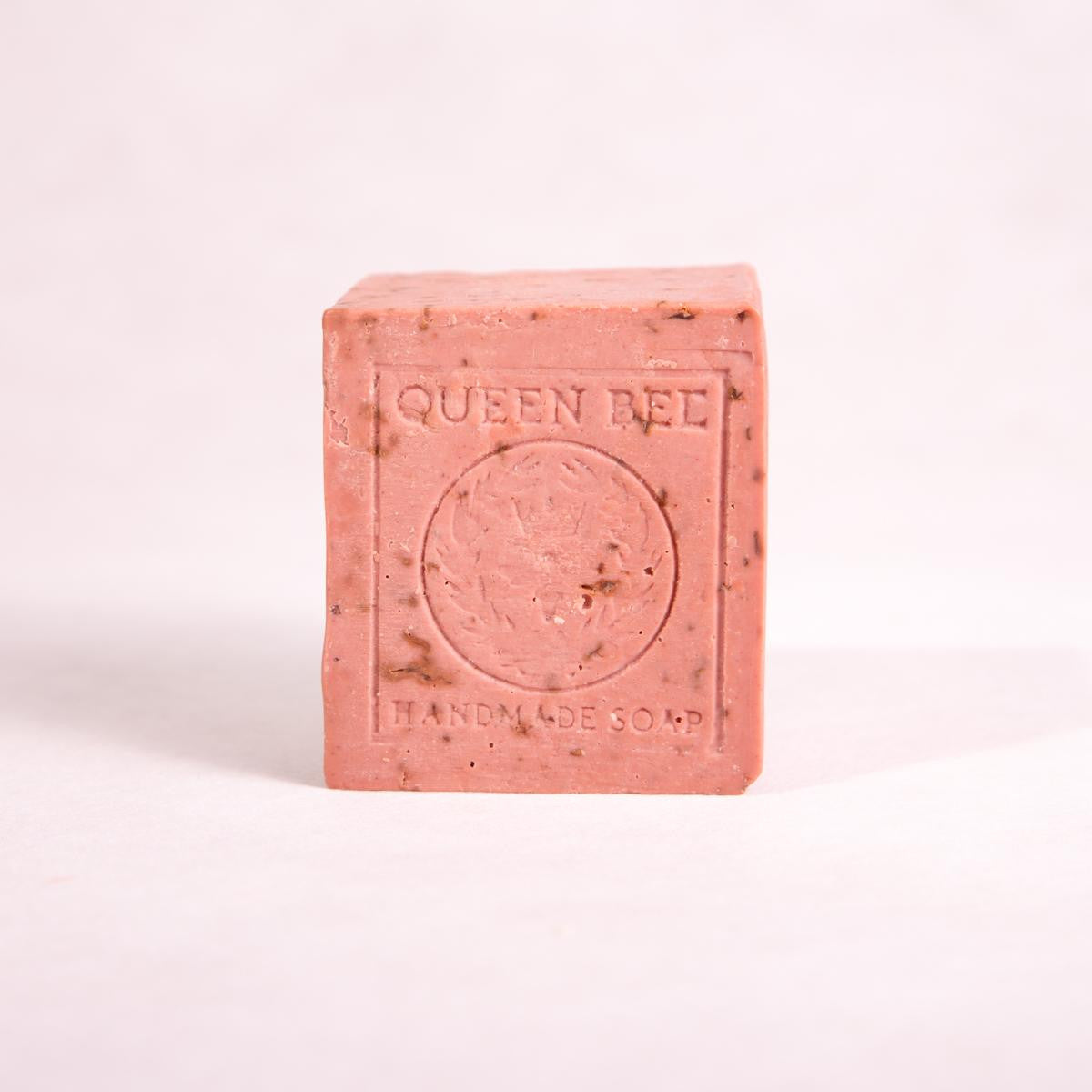 Rose Geranium, Lemon & Red Clay Block Soap - 170g approx - Block Soap - Throw Some Seeds - Australian gardening gifts and eco products online!