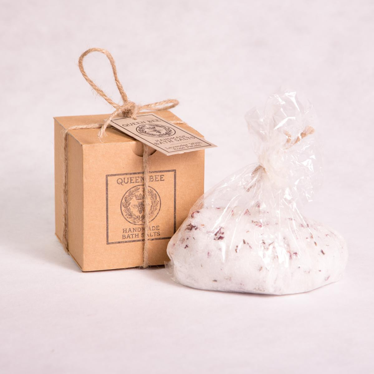 Lavender with Organic Rose Petals Bath Salts - 500g - Bath Salts - Throw Some Seeds - Australian gardening gifts and eco products online!