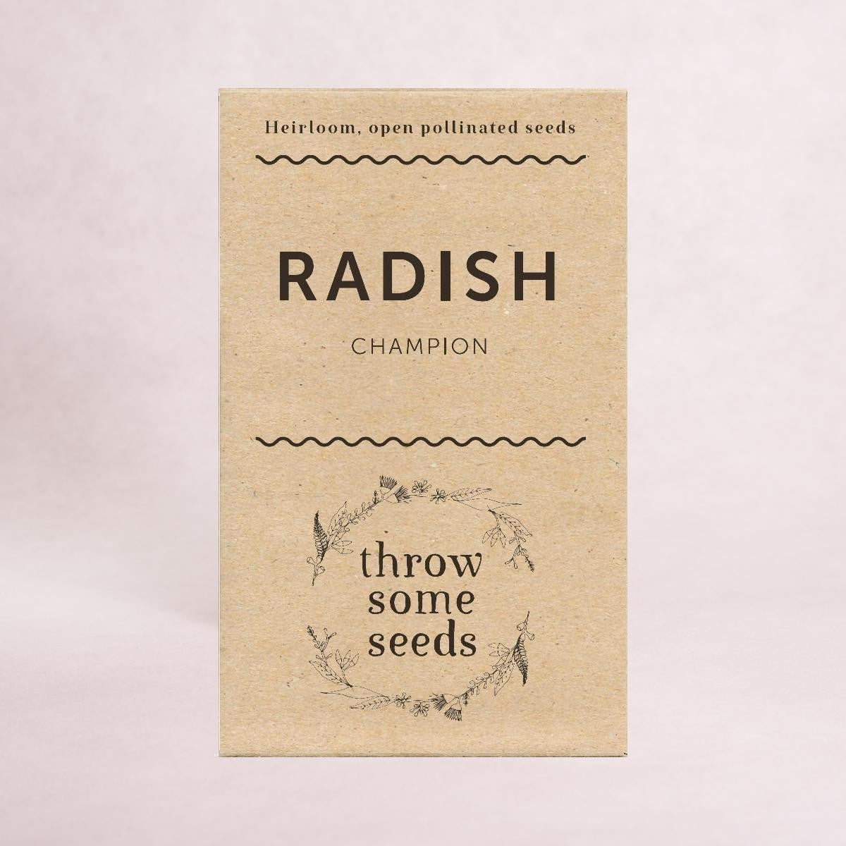 Radish (Champion) Seeds - Seeds - Throw Some Seeds - Australian gardening gifts and eco products online!
