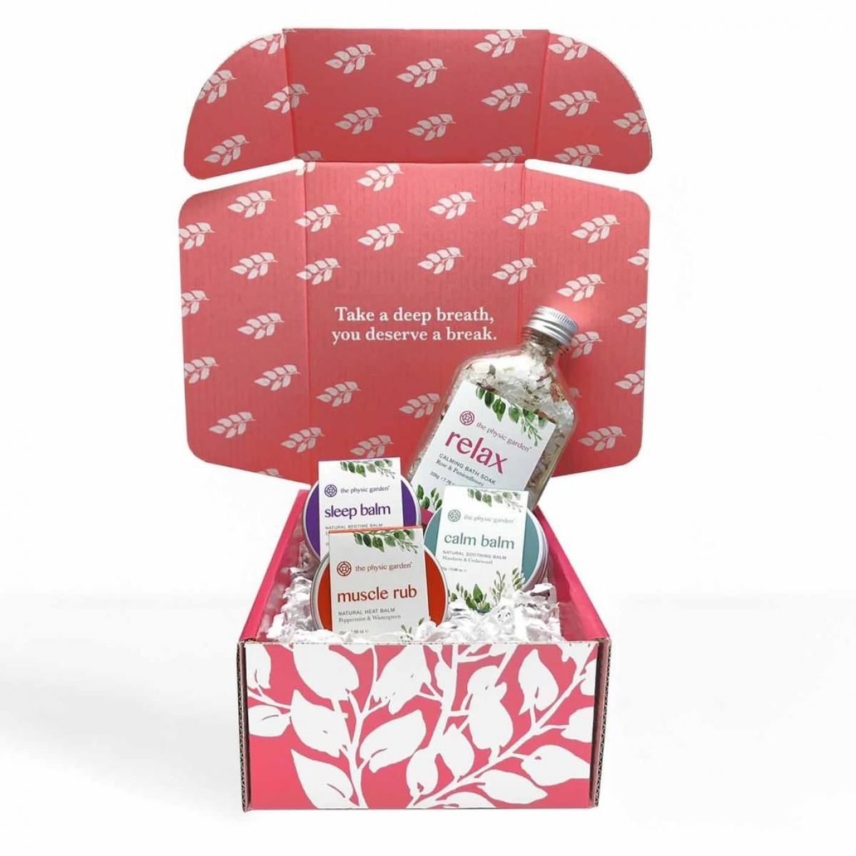 Relax & Restore Gift Set by The Physic Garden - Gift Pack - Throw Some Seeds - Australian gardening gifts and eco products online!