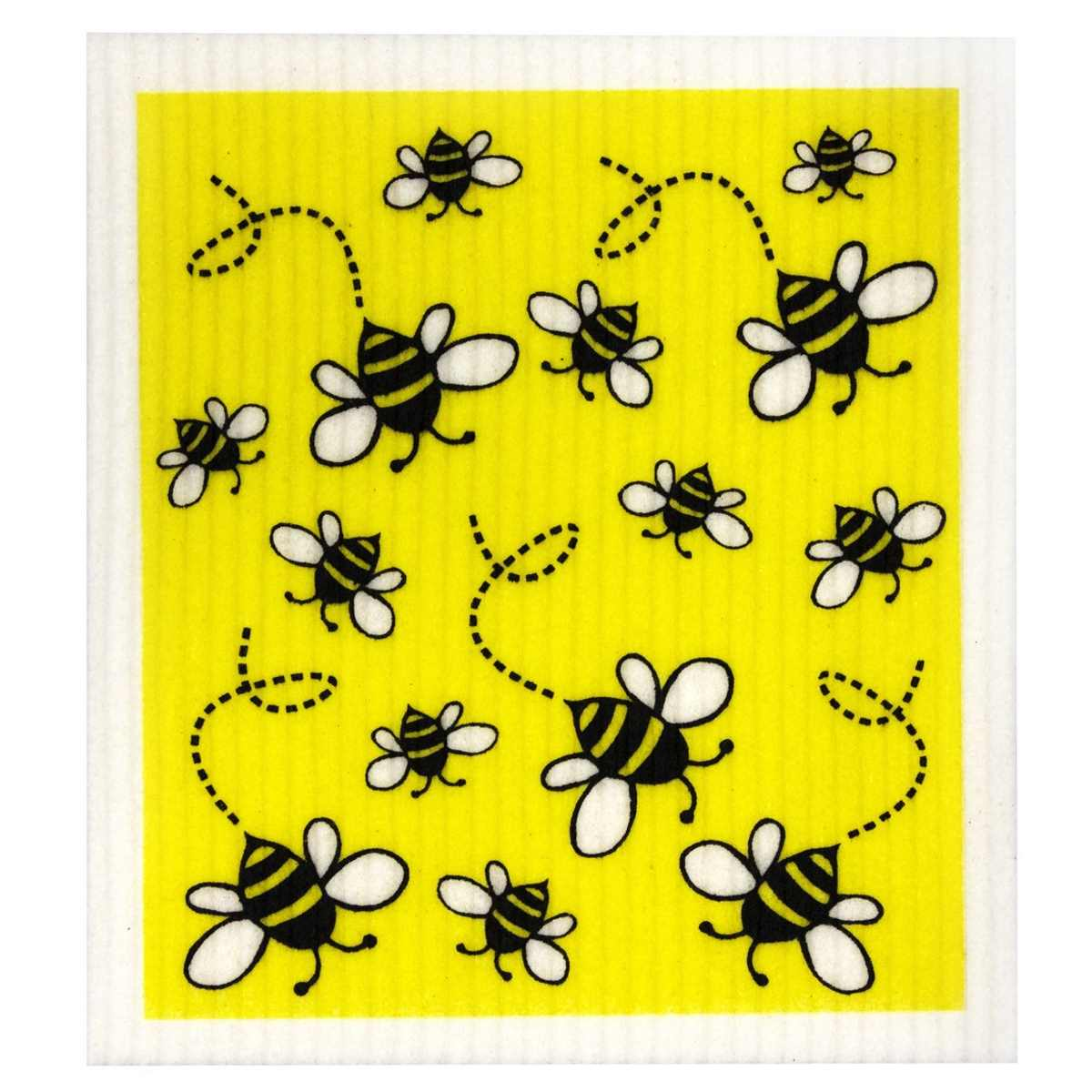 Biodegradable Dish Sponge Cloth - Bees - Eco Cleaning Cloth - Throw Some Seeds - Australian gardening gifts and eco products online!