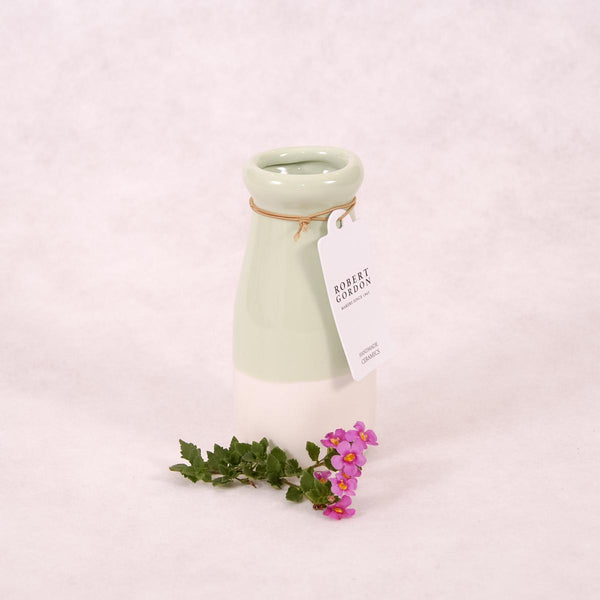 Milk Bottle Vase - Dipped (Assorted Colours!) - Vase - Throw Some Seeds