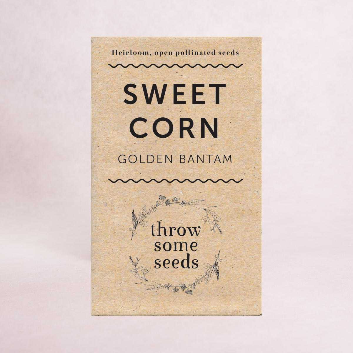 Sweet Corn (Golden Bantam) Seeds - Seeds - Throw Some Seeds - Australian gardening gifts and eco products online!