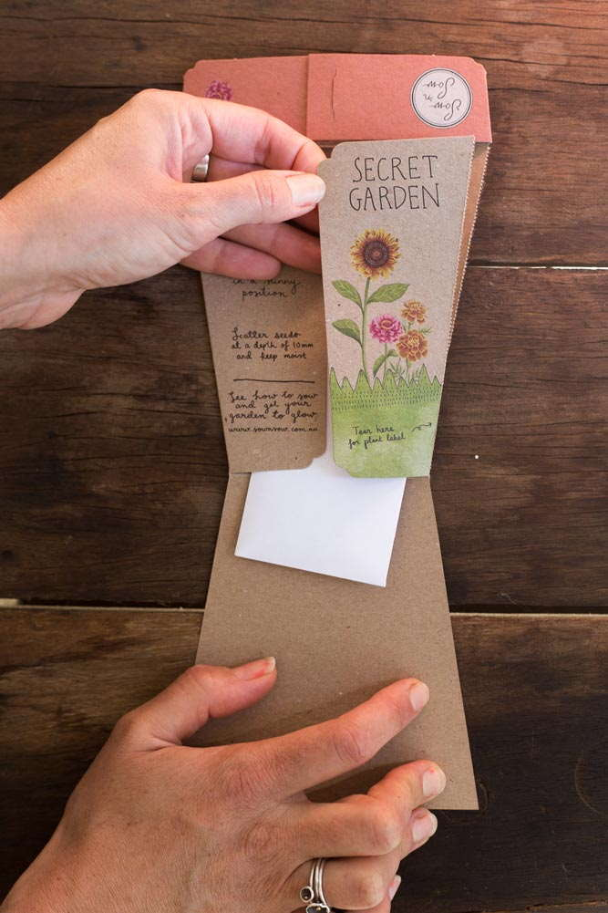 Sow 'n Sow Gift Card with Seeds - Secret Garden