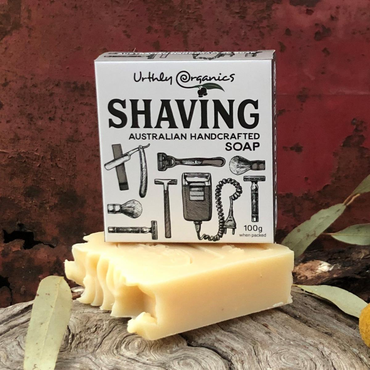 Shaving Soap Bar - Urthly Organics - Shaving Soap Bar - Throw Some Seeds - Australian gardening gifts and eco products online!