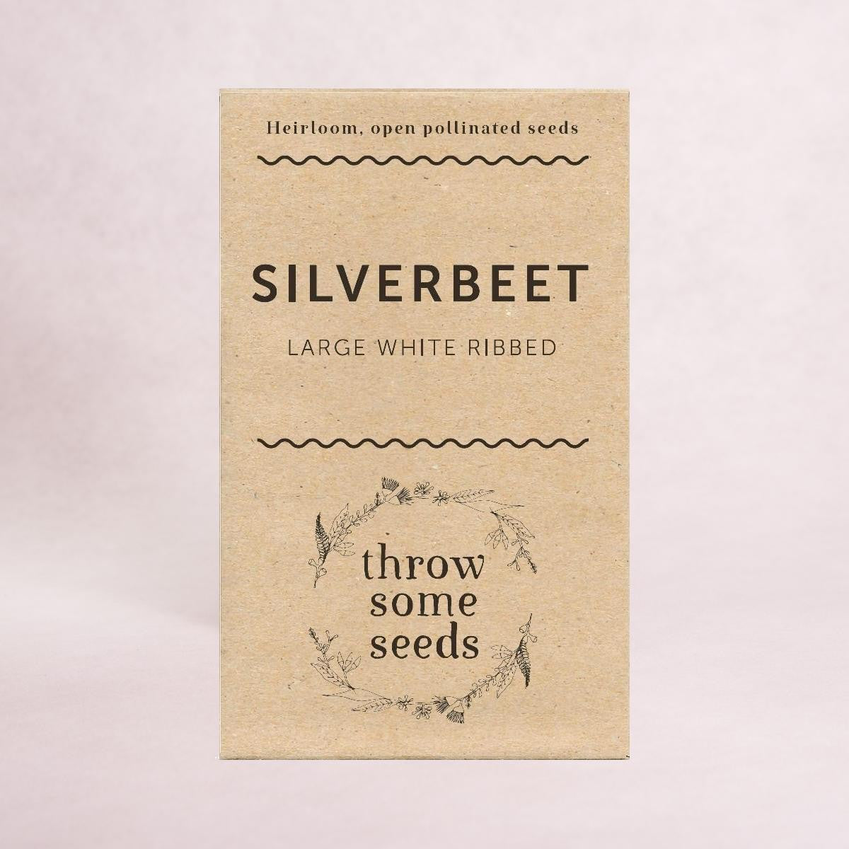 Silverbeet  (Large White Ribbed) - Heirloom Seeds - Throw Some Seeds