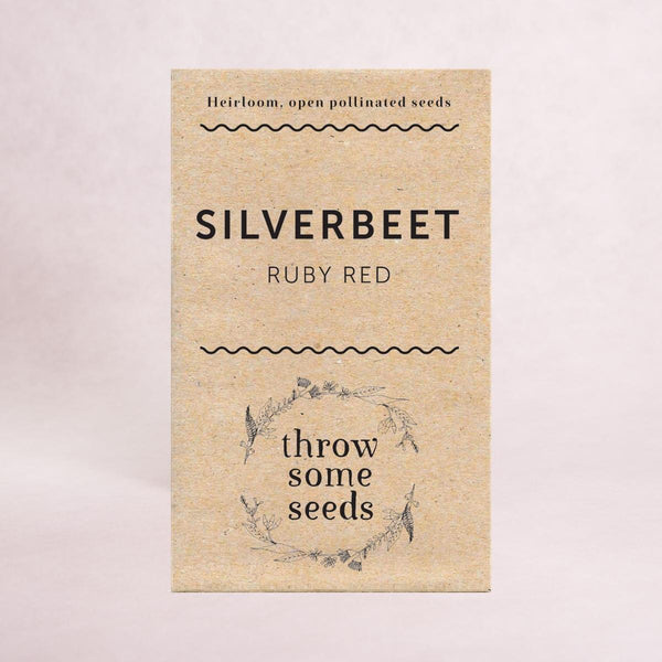 Silverbeet (Ruby Red) Seeds - Seeds - Throw Some Seeds - Australian gardening gifts and eco products online!