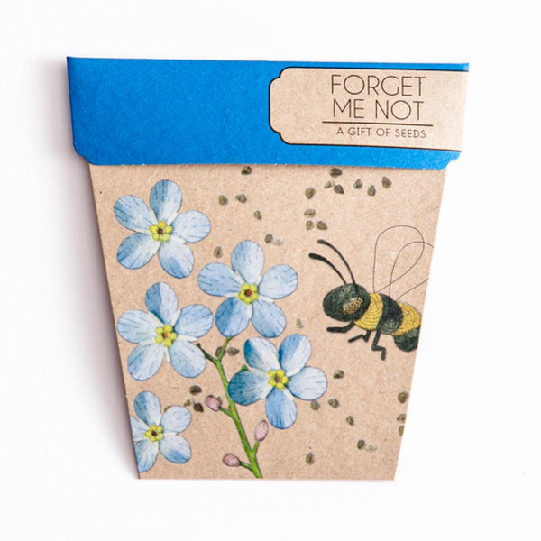 Sow 'n Sow Gift Card with Seeds - Forget-me-not - Gift of Seeds - Throw Some Seeds - Australian gardening gifts and eco products online!