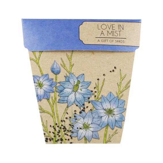 Sow 'n Sow Gift Card with Seeds - Love In A Mist - Gift of Seeds - Throw Some Seeds - Australian gardening gifts and eco products online!