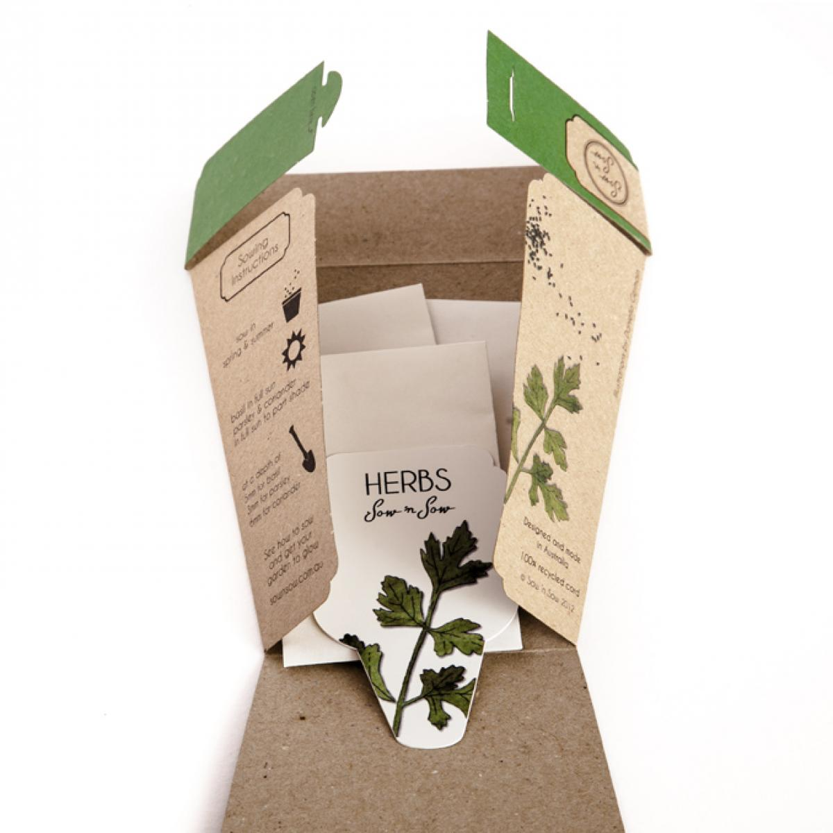 Sow 'n Sow Gift Card with Seeds - Trio of Herbs