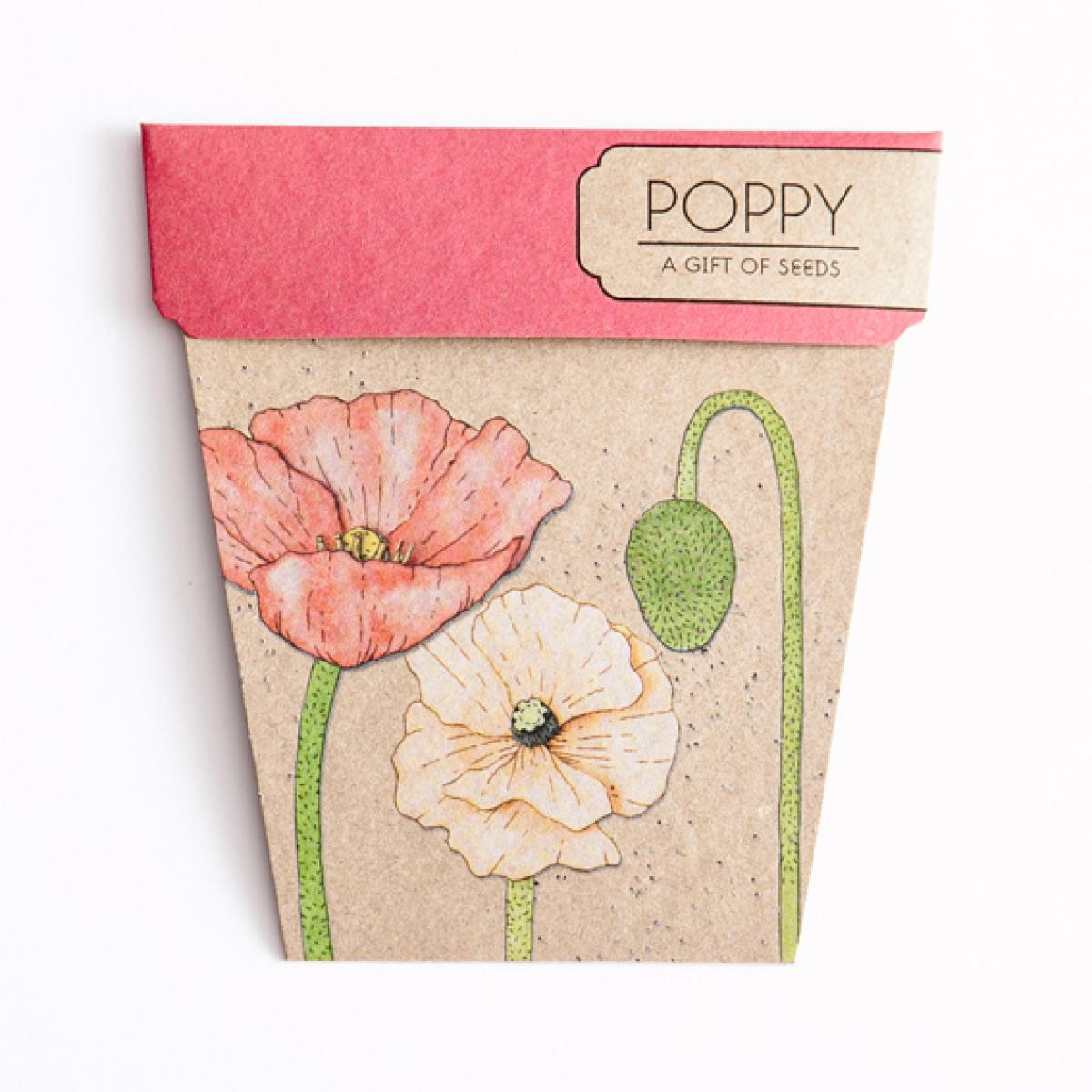 Sow 'n Sow Gift Card with Seeds - Poppy - Gift of Seeds - Throw Some Seeds - Australian gardening gifts and eco products online!