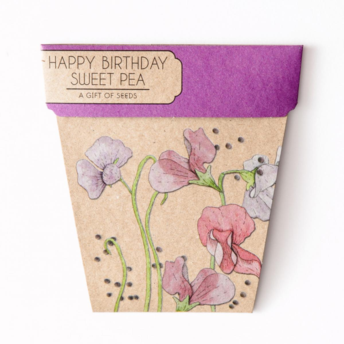 Sow 'n Sow Gift Card with Seeds - Sweet Pea - Gift of Seeds - Throw Some Seeds - Australian gardening gifts and eco products online!