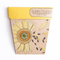 Sow 'n Sow Gift Card with Seeds - Sunflower - Gift of Seeds - Throw Some Seeds - Australian gardening gifts and eco products online!