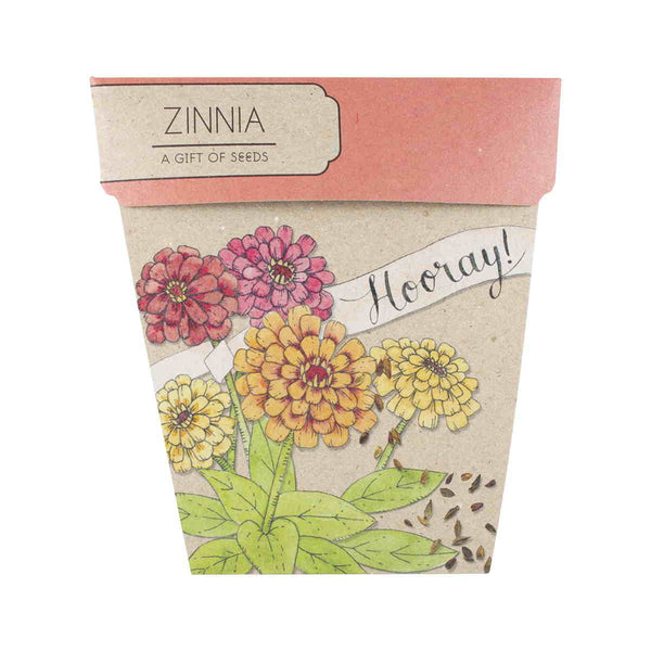 Sow 'n Sow Gift Card with Seeds - Hooray Zinnia
