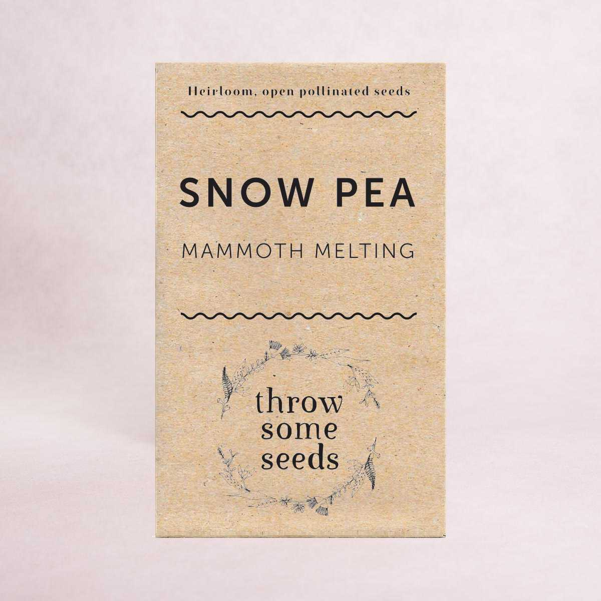 Snow Pea (Mammoth Melting) Seeds - Seeds - Throw Some Seeds - Australian gardening gifts and eco products online!