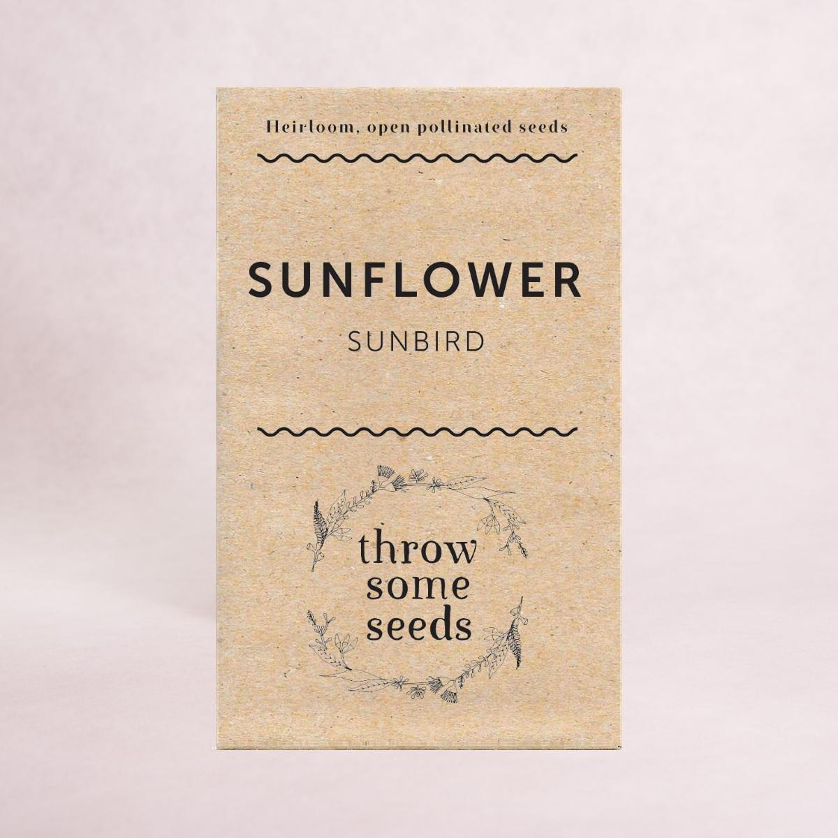 Sunflower (Sunbird) Seeds - Seeds - Throw Some Seeds - Australian gardening gifts and eco products online!