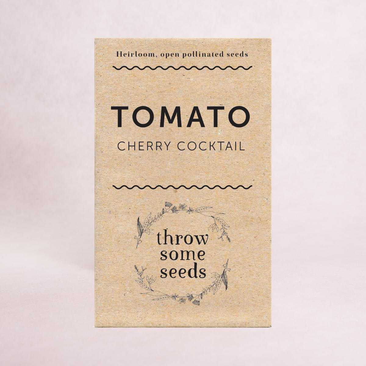 Tomato (Cherry Cocktail) - Heirloom Seeds - Seeds - Throw Some Seeds