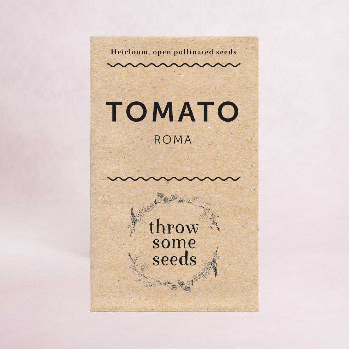 Tomato (Roma) Seeds - Seeds - Throw Some Seeds - Australian gardening gifts and eco products online!