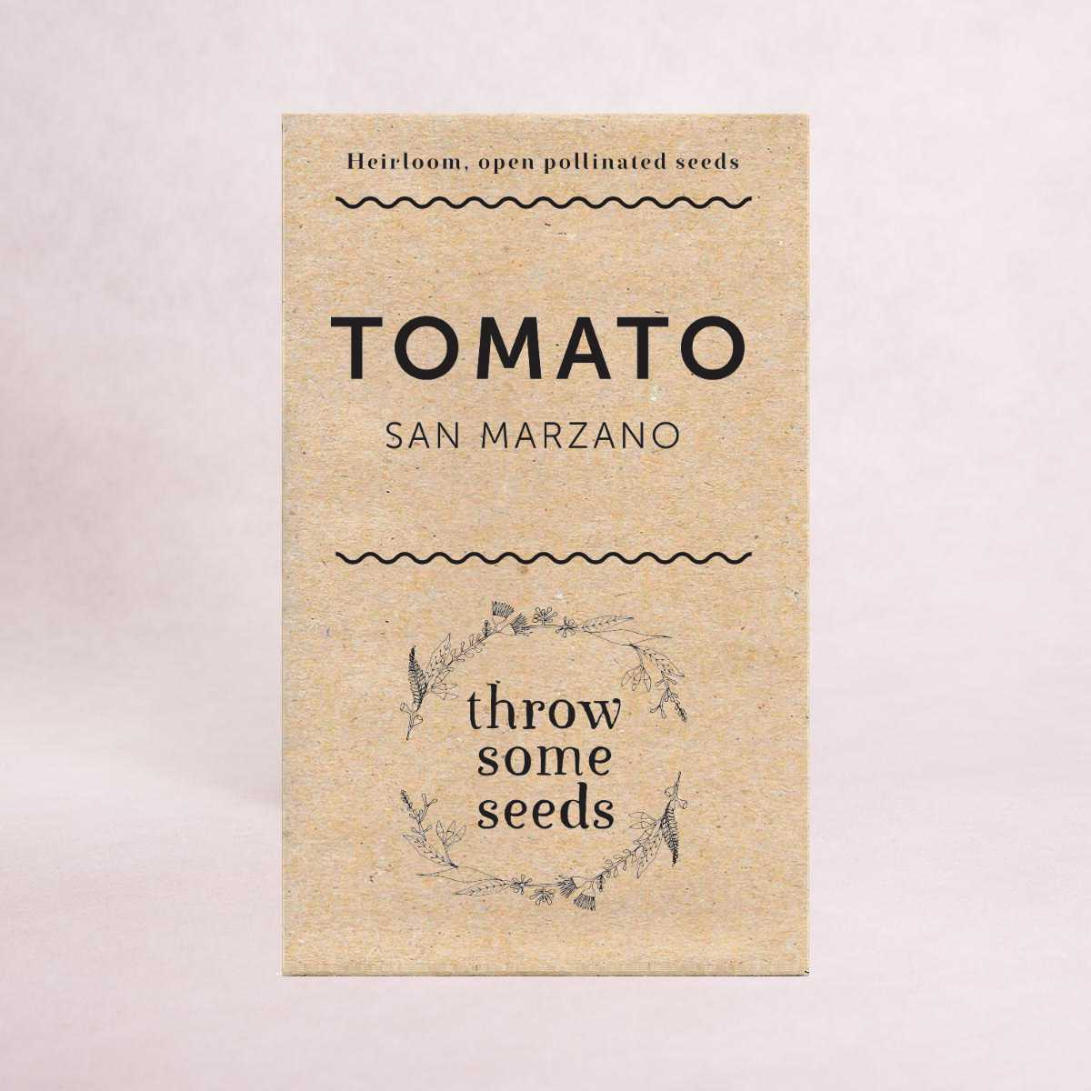Tomato (San Marzano) Seeds - Seeds - Throw Some Seeds - Australian gardening gifts and eco products online!