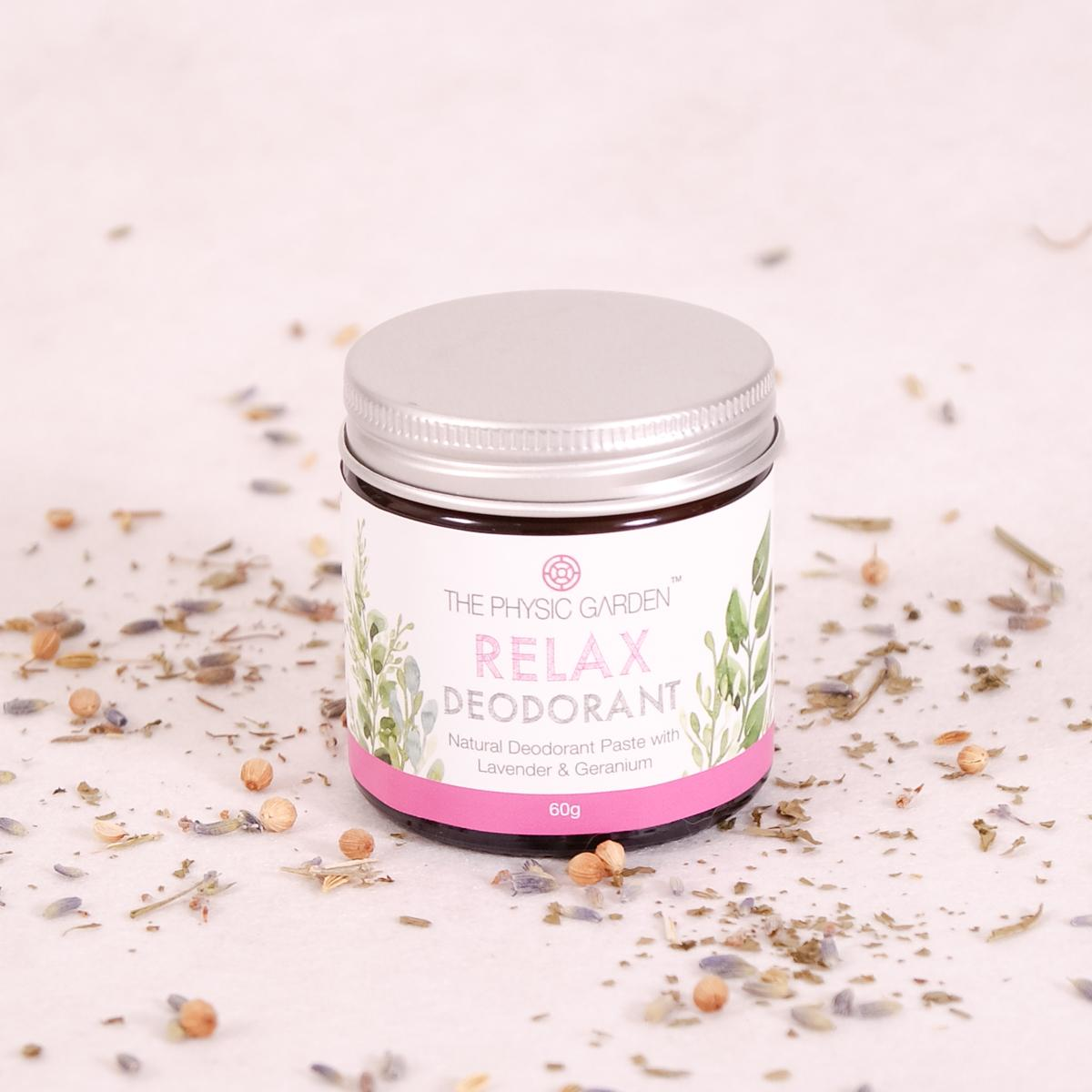 The Physic Garden Relax Deodorant - 60gm - Deodorant - Throw Some Seeds - Australian gardening gifts and eco products online!
