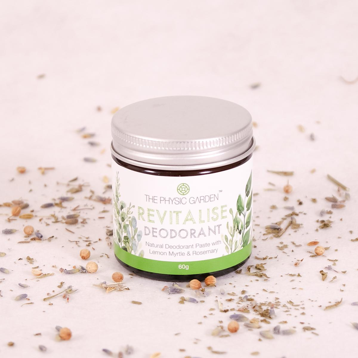 The Physic Garden Revitalise Deodorant - 60gm - Deodorant - Throw Some Seeds - Australian gardening gifts and eco products online!