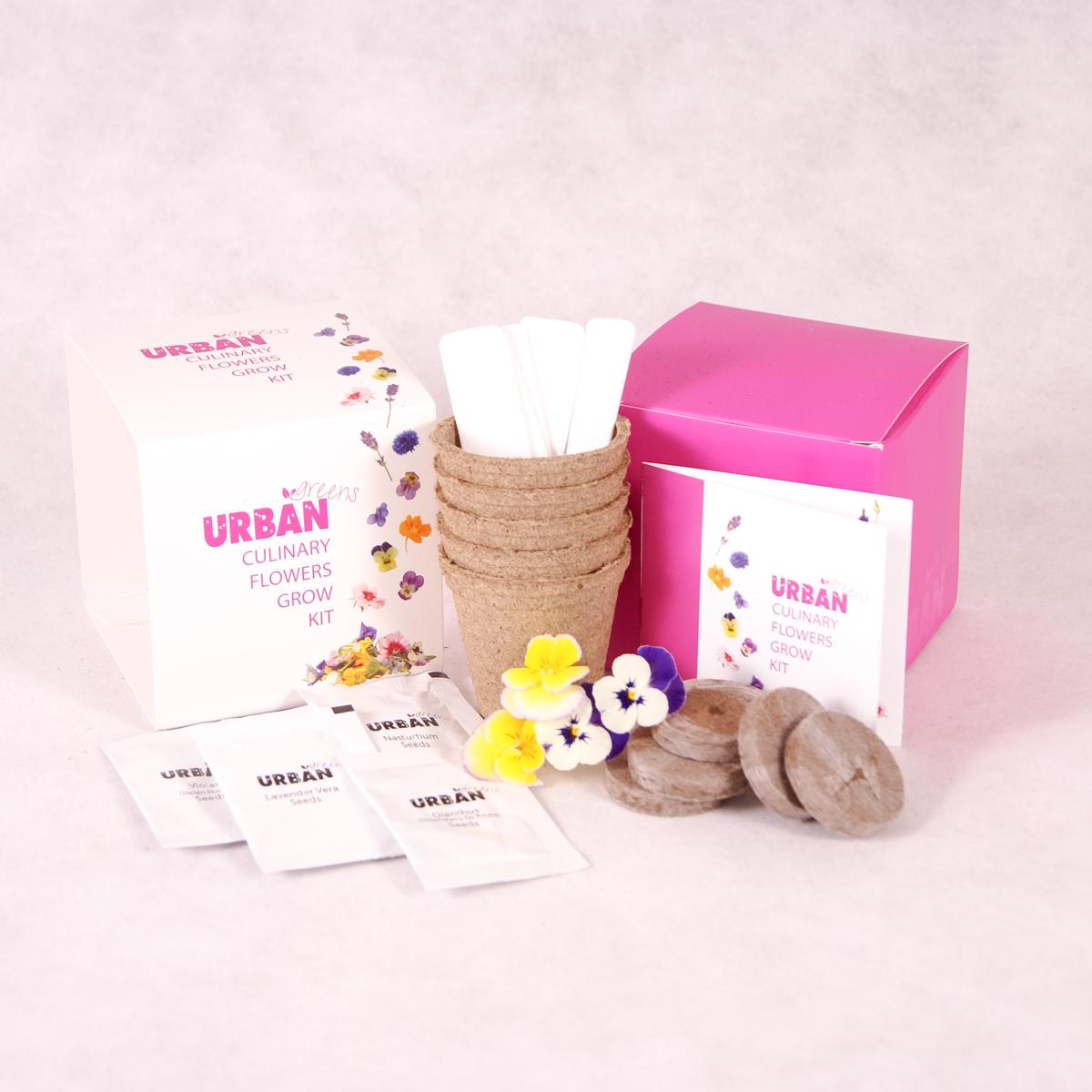 Culinary Flowers Growing Kit | Urban Greens - Growing Kit - Throw Some Seeds - Australian gardening gifts and eco products online!