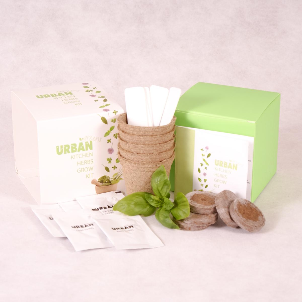 Kitchen Herbs Growing Kit | Urban Greens - Growing Kit - Throw Some Seeds - Australian gardening gifts and eco products online!