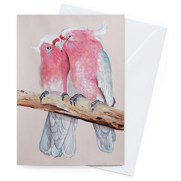 Vixen Designs Card – Major Mitchell Pair - Card - Throw Some Seeds - Australian gardening gifts and eco products online!