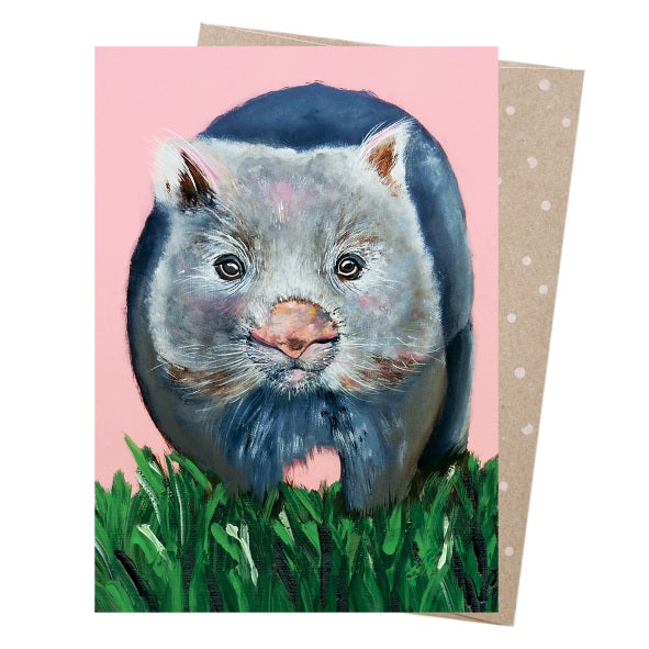 Greeting Card – Watson Wombat - Card - Throw Some Seeds - Australian gardening gifts and eco products online!