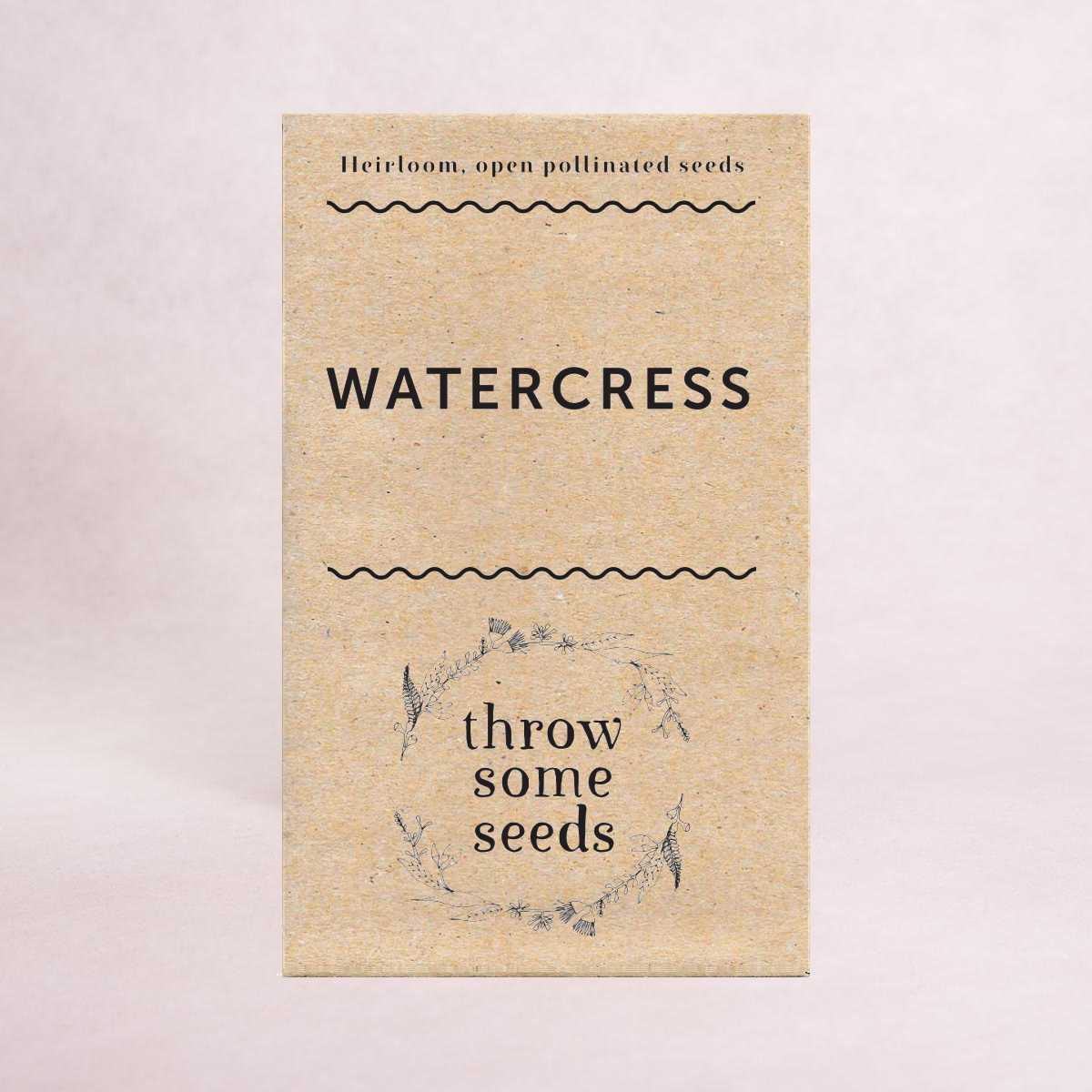 Watercress Seeds - Seeds - Throw Some Seeds - Australian gardening gifts and eco products online!