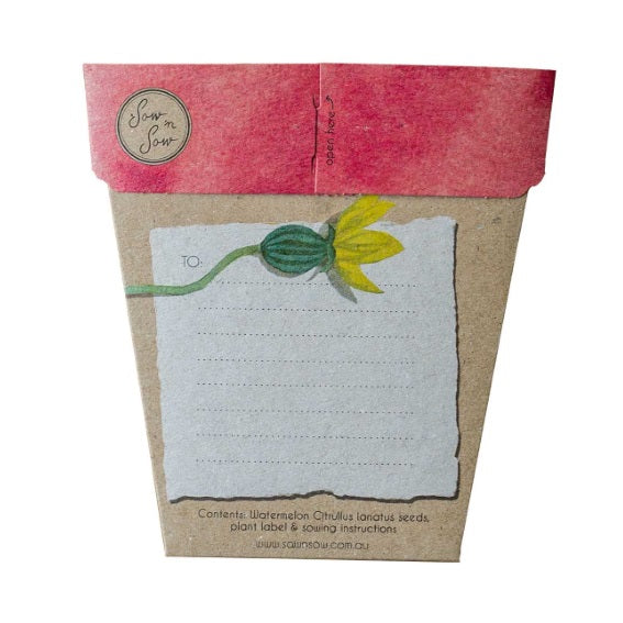 Sow 'n Sow Gift Card with Seeds - Watermelon