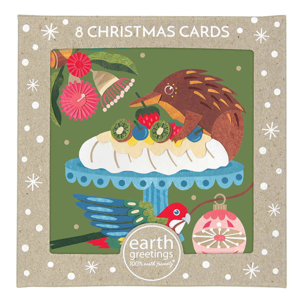 Boxed Christmas Cards 'Christmas Pavlova' - Pack of 8