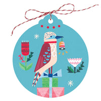 "Christmas Gift Tags ""Kookaburra Joy"" – Set of 5 - Card - Throw Some Seeds - Australian gardening gifts and eco products online!"