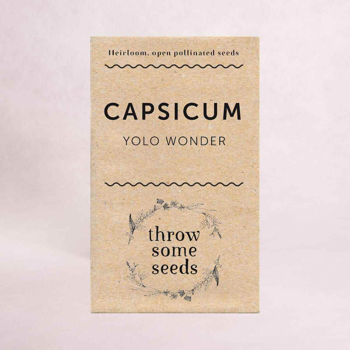 Capsicum (Yolo Wonder) Seeds - Seeds - Throw Some Seeds - Australian gardening gifts and eco products online!