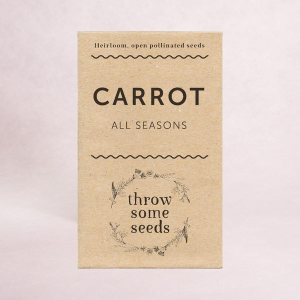 Carrot (All seasons) Seeds - Seeds - Throw Some Seeds - Australian gardening gifts and eco products online!