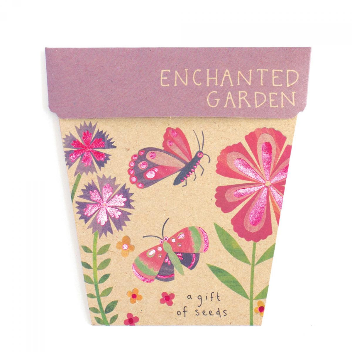 Sow 'n Sow Gift Card with Seeds - Enchanted Garden - Gift of Seeds - Throw Some Seeds - Australian gardening gifts and eco products online!