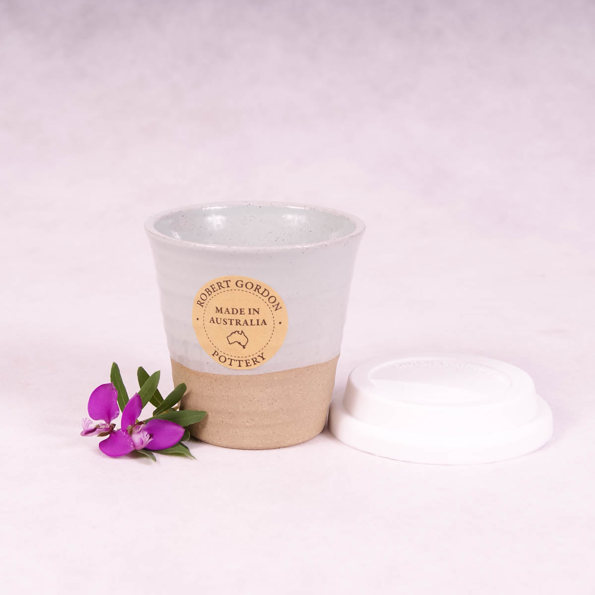 Winter Pastels Ceramic Carousel Cup Small - Duck Egg - Travel Cup - Throw Some Seeds - Australian gardening gifts and eco products online!