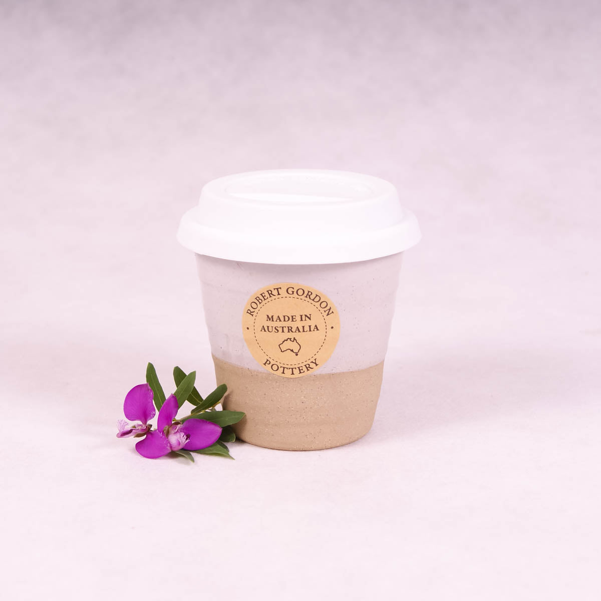 Winter Pastels Ceramic Carousel Cup Small - White - Travel Cup - Throw Some Seeds - Australian gardening gifts and eco products online!