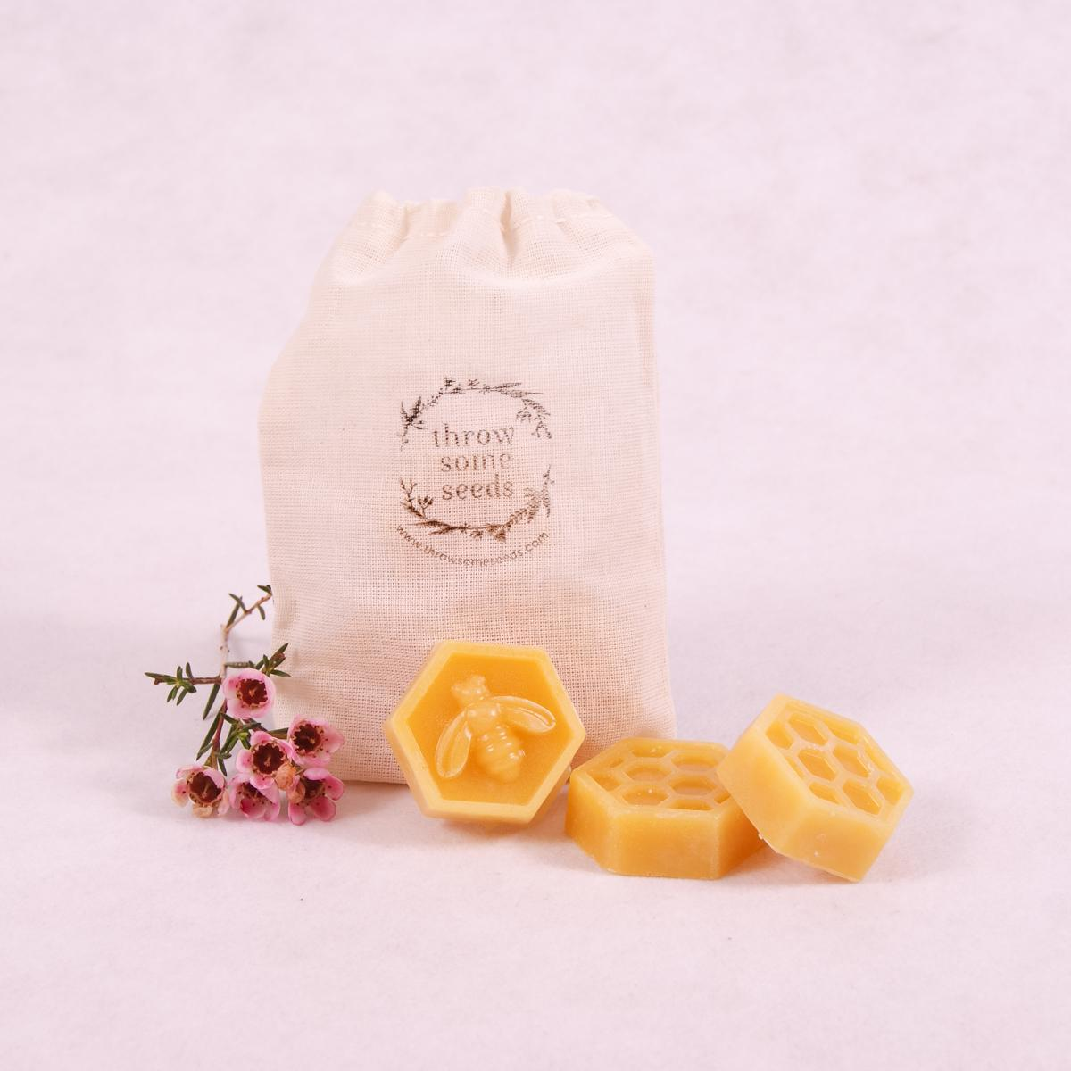 Beeswax Melts - 3 pack - Beeswax Melt - Throw Some Seeds - Australian gardening gifts and eco products online!