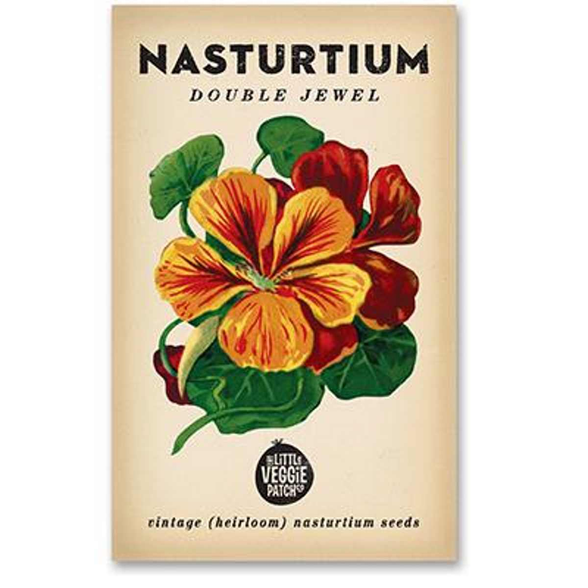 Nasturtium (Double Jewel) Heirloom Seeds - Seeds - Throw Some Seeds - Australian gardening gifts and eco products online!