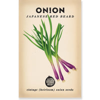 Onion (Japanese Red Beard) Heirloom Seeds - Seeds - Throw Some Seeds - Australian gardening gifts and eco products online!