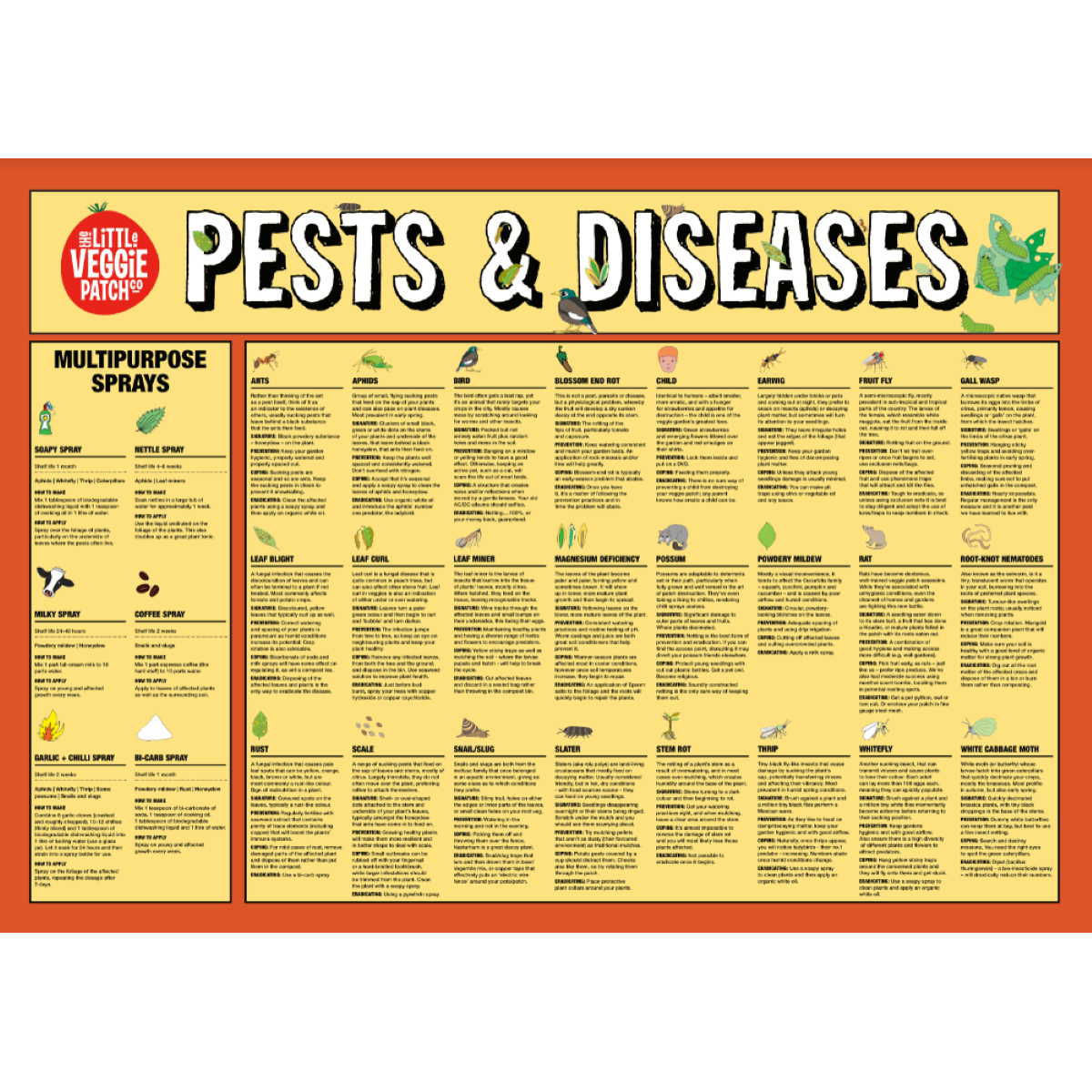 Pest & Disease Help Chart | by The Little Veggie Patch Co